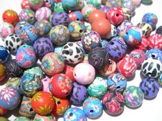 '50 Mixed Round Polymer Clay Beads 8MM' is going up for auction at 11pm Sat, Feb 16 with a starting bid of $5.