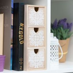 Mandala Wooden Chest Of Drawers (3 Drawers)