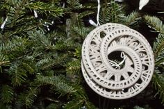 3D printed ornament from Architecture student.