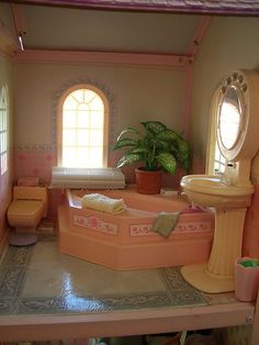 Bathroom of the Barbie Magical Mansion by Mattel, 1990