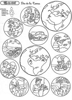 Earth Day Worksheets, Earth Day Activities, Kids Learning Activities, Kindergarten Activities, Science Activities, Preschool Crafts, Teaching Kids, Earth Day Coloring Pages, School Coloring Pages