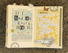 Extra Hour journal prompt by Scrappinceo