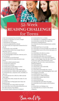 This reading challenge for teens is fun, outside the box, and interesting enough your kids will want to accept my challenge to read 52 books in the coming year! Download the free PDF checklist to keep track!