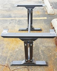 Stylish Dining Table Legs, Industrial Kitchen Table Legs with 2 Braces Heavy Duty steel tubing legs. 28 H x 28 W This listing is for set of 2 Steel Tubing Legs and 2 Braces 43 long. Total L - 49 - Made from Steel Tubing - 3 x 2 x 14 ga wall, Tubing 3 x 1 1/2, Tubing 3 x 1 and Square Tubing 2
