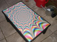 DIY Trippy Coffee Table. ♥