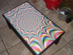 DIY Trippy Coffee Table. ♥
