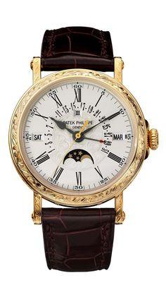 Patek Philippe Engraved Perpetual Calendar watch Ref. 5160