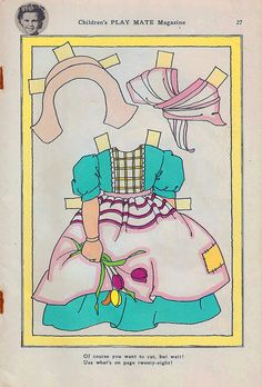 (⑅ ॣ•͈ᴗ•͈ ॣ)♡                                                             ✄Dutch Girl Paper Doll 1 by shelece, via Flickr
