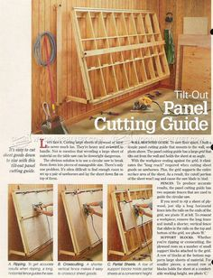 Vertical Panel Saw Plans - Circular Saw Tips, Jigs and Fixtures - Woodwork, Woodworking, Woodworking Plans, Woodworking Projects