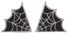 Spiderweb Collar Patches Silver