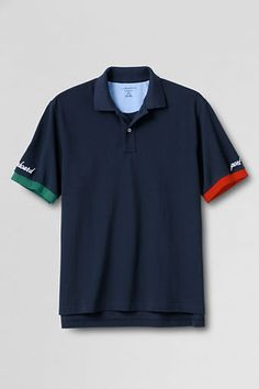 Mens Starboard Colorblock Polo Shirt from Lands End