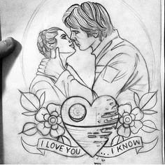 Amazing and beautiful Star Wars tattoo sketch!