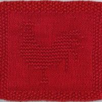 Rooster Knit Dishcloth Pattern