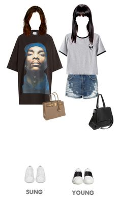 """SUN (Sung & Young) - Airport"" by sunofficial ❤ liked on Polyvore featuring Vetements, Yves Saint Laurent, Hermès, Topshop, Chicnova Fashion, Vince and Givenchy"