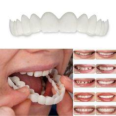 Teeth Veneers Whitening Snap On Smile Teeth Cosmetic Denture Instant Perfect #LEARNEVER Veneers Teeth, Dental Veneers, Perfect Smile Teeth, Snap On Smile, Smile Smile, Smile Whitening, Smile Dental, Dental Care, Oral Hygiene