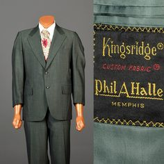 Vintage 1970s Green Sharkskin Suit. Vintage Mens Suit. Mod Suit. Mens style, mens fashion, vintage menswear, vintage mens style, vintage fashion