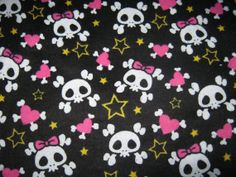 Custom Cloth DiaperGirly Skulls Punk  by Los by loschiquitos, $9.25