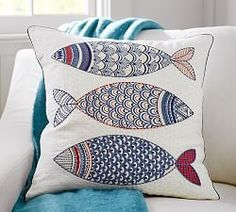 Pottery Barn pillow.  I see an appliqued pillow using assorted fabrics and make my own!
