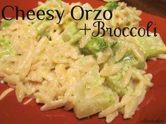 Cheesy Orzo with Broccoli