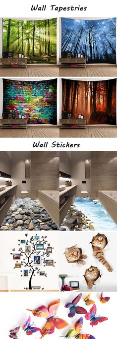 home decor ideas:Wall Tapestries and Wall Stickers