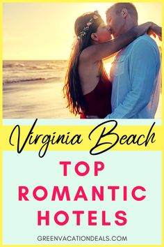 Virginia is for lovers and Virginia Beach is known for its beautiful beaches. You may want to go for a sunset stroll along the water with your love. The natural beauty of Virginia Beach makes it an ideal location for a romantic getaway. Honeymoon Hotels, Romantic Honeymoon, Romantic Vacations, Romantic Getaways, Romantic Travel, Beach Vacations, Family Vacation Destinations, Vacation Deals, Vacation Trips