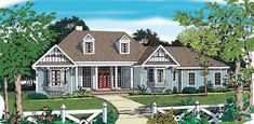 Eplans Country House Plan - Engaging Country Home - 1815 Square Feet and 3 Bedrooms from Eplans - House Plan Code HWEPL10187