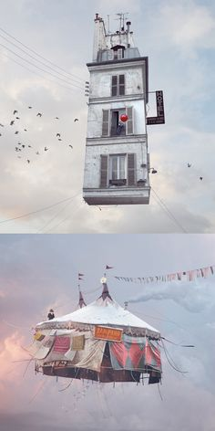 """""""Flying Houses"""" photographs by Laurent Chehere"""