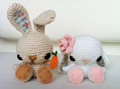 Spring Bunny - free crochet pattern #amigurumi