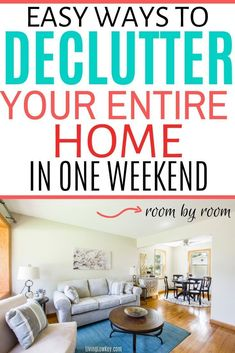 Need motivation to declutter and organize your home. Come learn how to declutter any room in your house from your bathroom to kitchen in record time. I can't wait to give these decluttering ideas… More