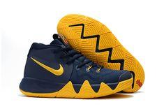 67e8cd77bb6 Men Nike Kyrie 4 Cavs Midnight Navy Lemon Yellow