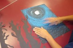 ART IS MAGIC! - for sharing all things art...: Fourth and Fifth Grade Tree Silhouette Landscapes