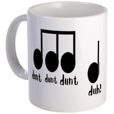 cute chalkpainted mug idea (a --get this-- clever gift for a music teacher!... not something with a bunch of treble clefs all over it!!!)