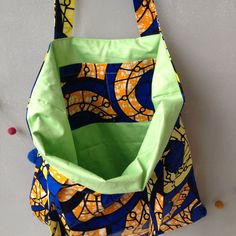 African large tote bag handmade ankara tote bag tote by JuneThirty