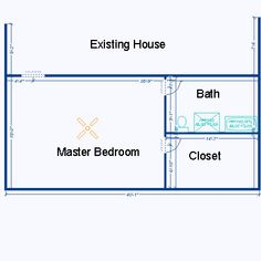 Room Addition Plans | Example of large room addition floor plan: