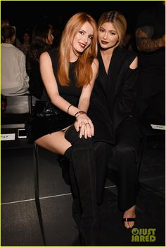Bella Thorne and Kylie Jenner at the Vera Wang show held during 2015 New York Fashion Week