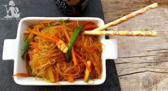 Spaghetti di soya zucchine e carote