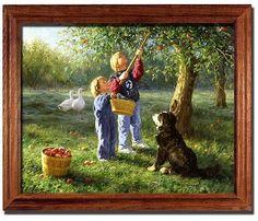 Nothing Like The Jonathans Apple Tree Robert Duncan Art Print Framed