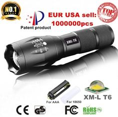 AloneFire E17 XM-L T6 3800LM Aluminum Waterproof Zoomable CREE LED Flashlight Torch light for 18650 Rechargeable Battery or AAA  Price: 7.74 USD