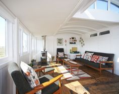 Ultimate dream home for MANY reasons | Before + After: A Converted Victorian Railway Car in Dungeness Kent—Design*Sponge