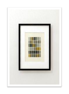 DNA IV - Giclee Print - Mid Century Modern Danish Modern Minimalist Cubist Modernist Eames Abstract