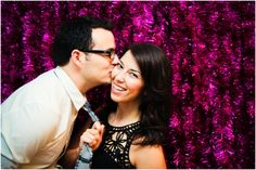 cute ideas for photo backdrops; the tinsel is my favorite use of color and texture