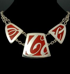 Coca-Cola Necklace by Pam East, instructor at the John C. Campbell Folk School | folkschool.org #folkschool #brasstown