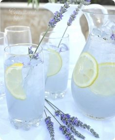 lavender and lemon wedding | lavender purple lemonade lemon flowers country yummy