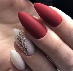 Excellent Nail Art Designs You Should Not Miss This Page on Page 30 - Ongles - Nail Design - Nageldesign Matte Nail Colors, Red Acrylic Nails, Red Nail Art, Gel Nails, Nail Polish, Red Matte Nails, Pastel Nails, Nail Manicure, Colorful Nail Designs