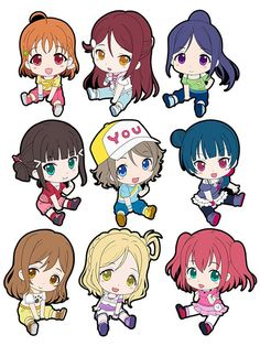 AmiAmi [Character & Hobby Shop] | Love Live! Sunshine!! - Petanko Trading Rubber Strap 9Pack BOX(Released)