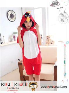 1b7e2fa71e Adult summer cotton short sleeves animal kigurumi red angry bird onesies  cosplay costume for women and men - Animal Kigurumi Onesies - Kigurumi