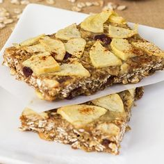 Autumn Apple Oat Bars | Skinny Mom | Where Moms Get the Skinny on Healthy Living