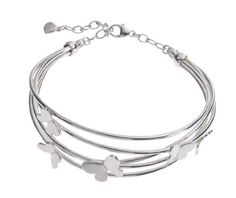 Echo Silver Butterfly Bangle