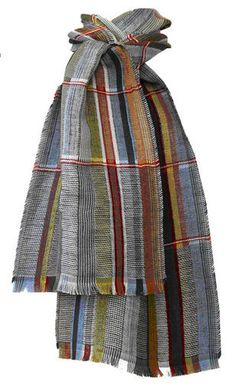 Wallace Sewell Silk and Linen Scarf  Blue - Tate Shop - £79 Foulards, c6c4aaaffd1