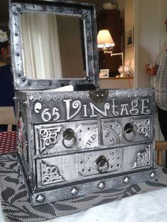 Steampunk inspired '50th' jewellery box